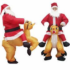 <b>Christmas Halloween Inflatable</b> Santa Claus <b>Costume</b> Reindeer ...