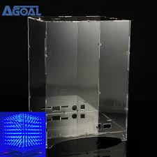 <b>Transparent Acrylic Shell</b> Box Case Cover Stand House For 8x8x8 ...