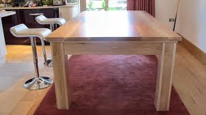 7ft dining table: ft oak pool dining table with top