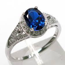 <b>fashionable</b> 1.5 ct sapphire <b>oval</b> cut <b>925 sterling</b> silver ring size 5-10