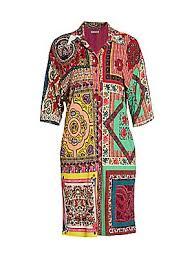 Etro - <b>Mosaic</b> Tile-Print Shirtdress - saks.com