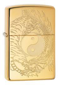 <b>Зажигалка</b> High Polish Brass <b>Tiger And Dragon</b> Design 49024 от ...
