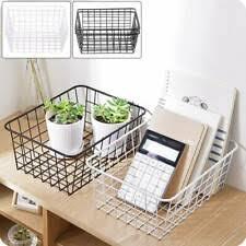 <b>Wire Mesh</b> Basket in Home <b>Storage</b> Baskets for sale | eBay