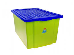 <b>Ящик Little Angel</b> для хранения игрушек, большой 57 л на колесах