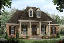 French Country Acadian Style House Plans   Home Design        middot  This image shows the front rendering of these French Country House Plans