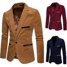 Fashion Men Business Blazer Coat Large Size Slim Solid ... - Vova