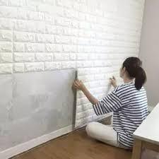 <b>3D Brick</b> Stone <b>Wall Sticker</b> Self-Adhesive Foam Wallpaper Panels ...
