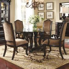Round Back Dining Room Chairs Elegant Dark Brown Teak Wood French Country Circular Dining Table
