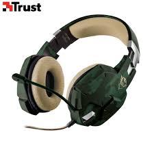Игровая стереогарнитура <b>20865 Trust GXT 322C</b> 2м зелёный ...