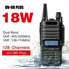 Walkie Talkie <b>BF</b>-<b>UV9R PLUS</b> Waterproof VHF UV-9R Handheld ...