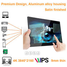 <b>15.6 inch 4K 3840*2160</b> touch screen monitor (ideal for smart ...