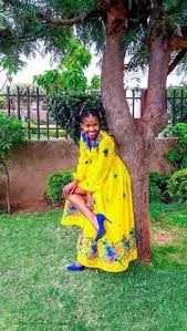 Tsonga chiffon wrap dress by @Fatiki designs Photo credits @Leo ...