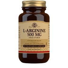 <b>L</b>-<b>Arginine 500</b> mg Vegetable <b>Capsules</b> - Pack of 50 - Solgar