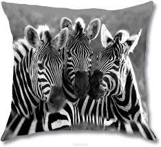 """<b>Подушка декоративная Gift'n'Home</b> """"Три зебры"""", 35 см х 35 см ..."""
