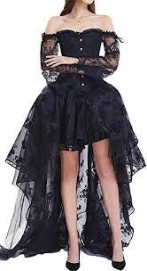 Eudolah <b>Women's</b> Gothic Steampunk Steel Boned Corset <b>Dress</b> ...
