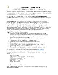 employment opportunity community wellness project coordinator share this post
