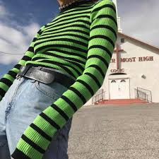 Flectit Women Long Sleeve Turtleneck <b>Striped</b> Tops T Shirt Tees ...