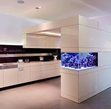 living space life room aquafront aquarium built into poggenpohl kitchen design artesio