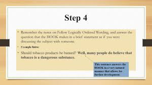 ask and answer essay writing process introductions ppt 6 step