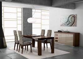 chair dining tables room contemporary: modern dining room chairs decorated with leopard upholstered chair and wooden dining table and white chandelier