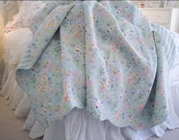 100 cotton inside and out this fabulous quilt set is sure to become a family heirloom the quilt measures 106 x 92 inches and includes two matching shams blue shabby chic bedding