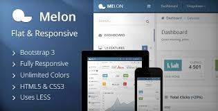 <b>Melon</b> – <b>Flat</b> & Responsive Admin Template by Stammi | ThemeForest