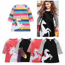 2018 Children <b>Dresses Autumn</b> Long Sleeve One piece Kids <b>Girls</b> ...