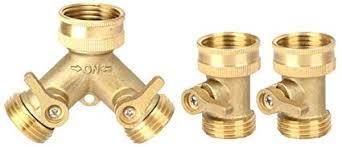 Harmony Lead Free-Garden Hose Connector (<b>Brass</b> Hose <b>Splitter</b> ...
