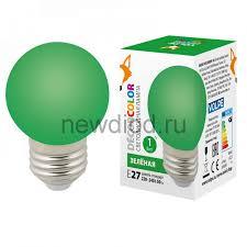 Купить лампу светодиодную <b>LED</b>-<b>G45</b>-<b>1W</b>/GREEN/<b>E27</b>/<b>FR/С</b> Ф ...