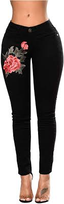 anbiwangluo <b>Womens Denim</b> Skinny Ripped Slim <b>Jeans</b> ...