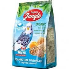 <b>Happy Jungle</b> Корм для <b>волнистых</b> попугаев в период линьки