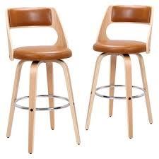 Rowland & Archibald Zurich <b>Modern Faux Leather</b> & <b>Wood</b> ...