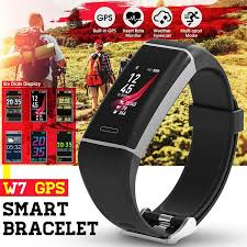 <b>W7</b> GPS <b>Sport</b> Wristband Casual Waterproof <b>Smart Watch</b> Bracelet ...
