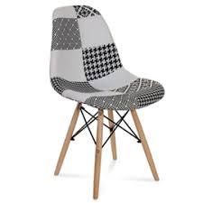 Купить <b>Стул</b> Eames пэчворк черно-белый <b>Stool Group</b> в Москве с ...