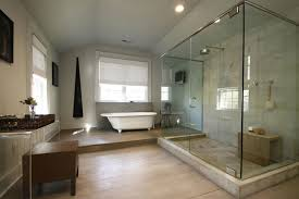 bath ideas: astounding clear glass shower bath of master bathroom ideas completed by shower head also furnished with