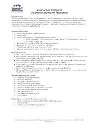 assistant hall director job description cover letter cover letter template for financial advisor sample resume exles academic advisorjob description for a