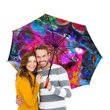 Зонт-трость двусторонний с деревянной ручкой Abstract Raster ...