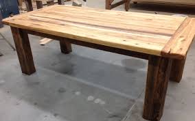 Dining Room Tables Reclaimed Wood Kitchen Table Finally A Use For That Old Reclaimed Hardwood Floor