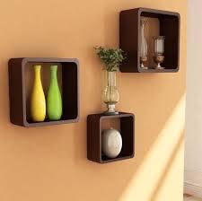 square bathroom shelves