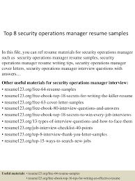 top8securityoperationsmanagerresumesamples 150515013534 lva1 app6892 thumbnail 4 jpg cb 1431653784