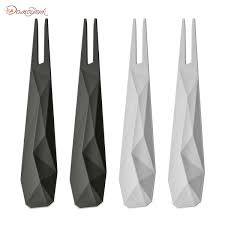 <b>Набор из 4 шпажек</b> CLUB серый - Сервировочные вилки и ножи ...