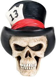 YTC New Top Hat Skull Head Bust Human Figurine ... - Amazon.com