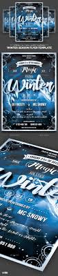17 best images about marketing postcards flyers winter season flyer template clubs parties events