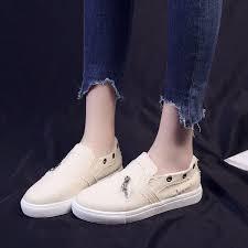 <b>Koznoy Spring</b> Autumn 2020 New Slip On Canvas Shoes ...