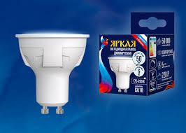 <b>Лампа</b> светодиодная <b>Uniel LED</b>-<b>JCDR</b> 6W/NW/GU10/FR/DIM
