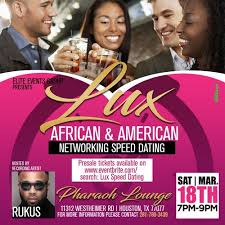 Lux African  amp  American SPEED DATING at       Westheimer Rd     Allevents