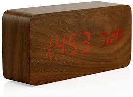 Oct17 Wooden <b>Digital Alarm Clock</b>, Wood Fashion <b>Multi-Function</b> ...