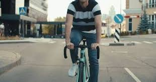 Young <b>Hipster</b> Man In Casual Summer Cloths Riding His <b>Fixed Gear</b> ...