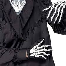 PBFONE 1Pair Adult <b>Skeleton Skull</b> Gloves <b>Halloween Party</b> ...