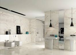 awesome brown wooden cabinet with granite on top also white marble sink combine with big awesome bathroom design nice pendant